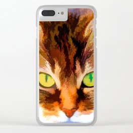 Cats face Clear iPhone Case