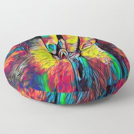 4246s-RES Abstract Pop Color Erotic Explicit Clitteral Psychedelic Yoni Self Love Floor Pillow