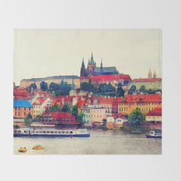 Prague Hradczany Throw Blanket