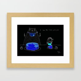 I love the time with you Framed Art Print