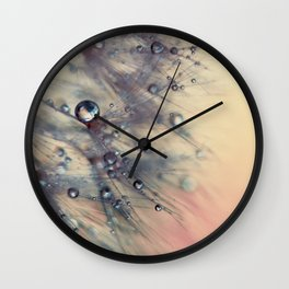 dandelion baby pink and blue Wall Clock
