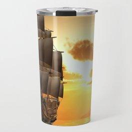 Ship Sunset Travel Mug