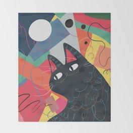 Trumpet Cat Throw Blanket