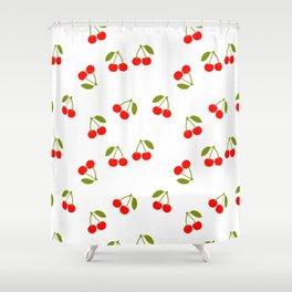 CHERRY CHERRIES FRUIT FOOD PATTERN Shower Curtain
