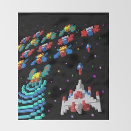 Inside Galaga Throw Blanket