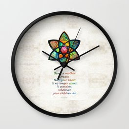 Mother Mom Art - Wandering Heart - By Sharon Cummings Wall Clock