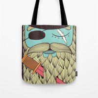 captain Tote Bags featuring Captain Hope by Alejandro Giraldo