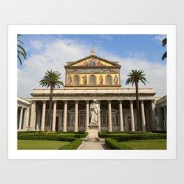 Basilica of St Paul Outside the Walls Art Print