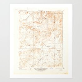 Carbondale, CA from 1909 Vintage Map - High Quality Art Print