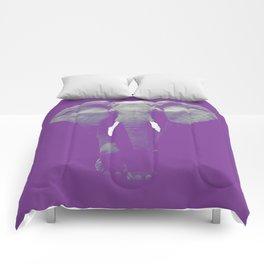 Purple Elephant Comforters