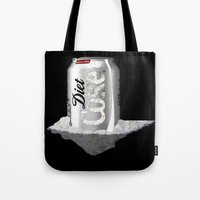 coke Tote Bags featuring Diet Coke by yayanastasia
