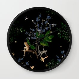 Monkey World: Apy and Vinnie Wall Clock