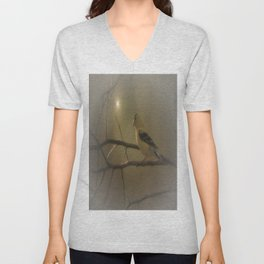 GOLDFINCH IN THE SUNLIGHT Unisex V-Neck