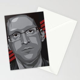 Edward Snowden Stationery Cards