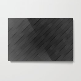 Black plastic waves Metal Print