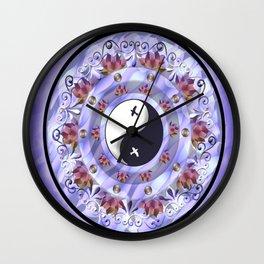 Ying-Yang Mandala Wall Clock