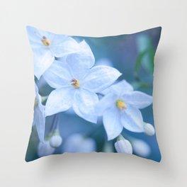 Jasmine Nightshade Flowers #1 #floral #art #society6 Throw Pillow