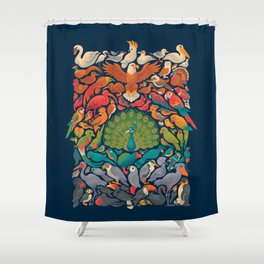 Aerial Spectrum : Blue Shower Curtain