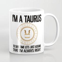 Taurus Zodiac Sign Birthday Gifts Horoscope Taurus Coffee Mug