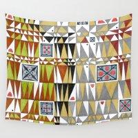 tetris Wall Tapestries featuring Tetris n. 6 by Federico Cortese