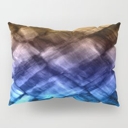 Rock Pool in Blue and Gold Pillow Sham
