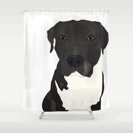 Atticus the Pit Bull Shower Curtain