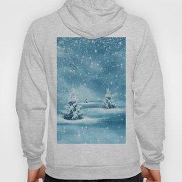 Christmas Winter Wonderland Snow Night Hoody