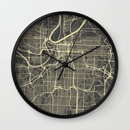 Kansas City map Wall Clock