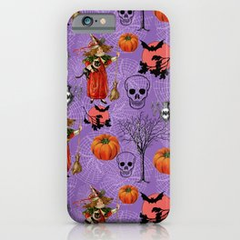 Vintage Halloween Pattern iPhone Case