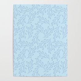 Blue blossom Poster