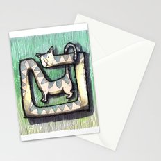 SQUARE CAT Stationery Cards