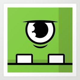 Monsters⁴ : Green Art Print