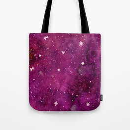 Watercolor galaxy - pink and purple Tote Bag