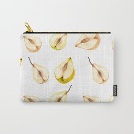 Half a Watercolor Chinese Pears. Botanical illustration Carry-All Pouch