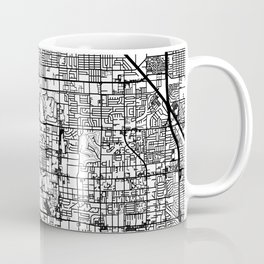 Las Vegas city map Coffee Mug
