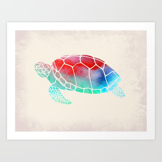 Watercolor Turtle Art Print