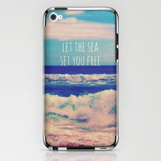 Let The Sea Set You Free iPhone & iPod Skin