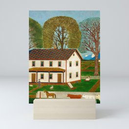 Farmhouse Decor - Vintage Painting Mini Art Print
