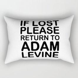 If lost please return to Adam levine Rectangular Pillow