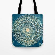 BLUE ORGANIC MANDALA Tote Bag