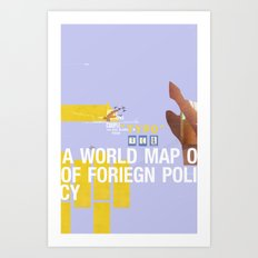 A World Map of Foreign Policy (book jacket cover) Art Print