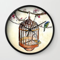 Chinese tea break Wall Clock