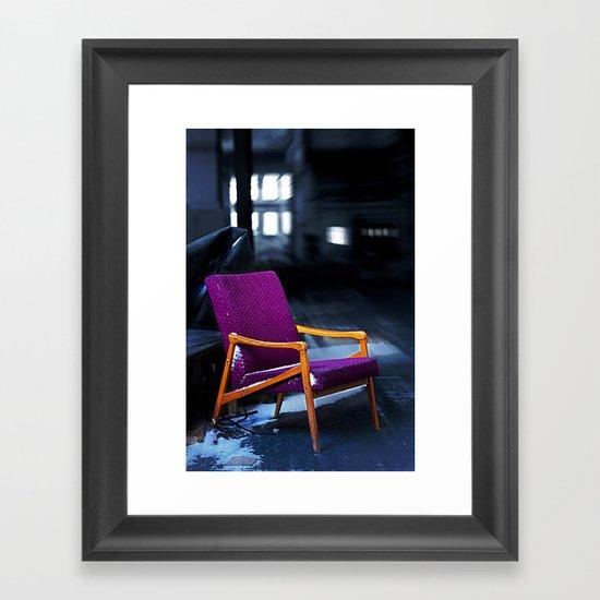 Royal chair Framed Art Print