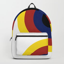 Primary Colors Circles Art Backpack