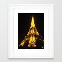 eiffel tower Framed Art Prints featuring Eiffel Tower by AshleyPickles