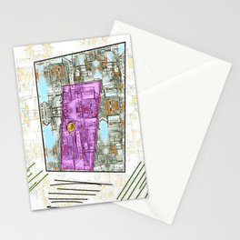 Enter at Your Own Risk Doorway to a New World Stationery Cards