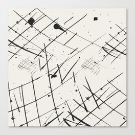 Grid + Splat Canvas Print