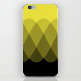 Yellow Ombre Signal iPhone Skin