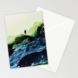 Blue Contact Stationery Cards
