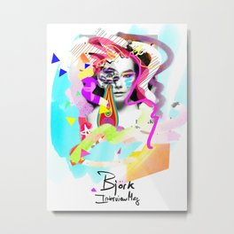 Bjork, Interview Mag Cover remixed Metal Print